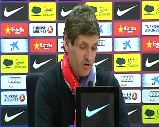 Tito Vilanova an encuentra cosas que mejorar