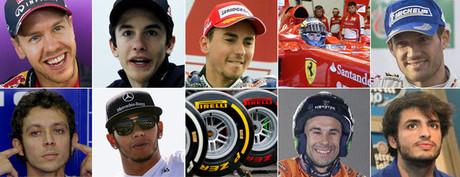 Los 10 nombres del mundo del motor en 2013