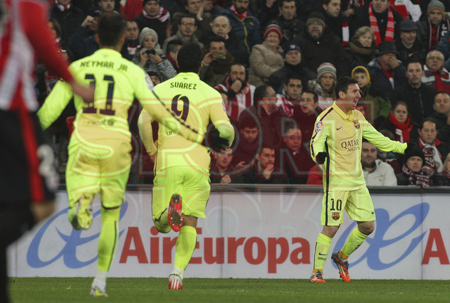 صور : مباراة أتليتيكو بلباو - برشلونة  2-5 ( 08-02-2015 ) 1423435470817