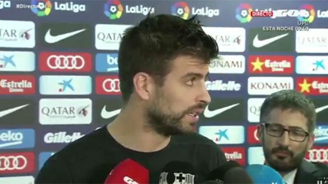 Piqué criticó a los aficionados que silban en el Camp Nou