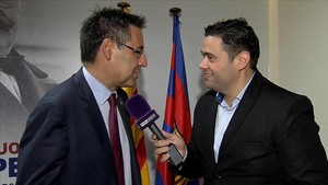 Bartomeu, entrevistado por Achraf Ben Ayad