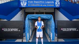 Gumbau es de los pocos que han fichado por un Primera, pero tiene pocas oportunidades en el Leganés