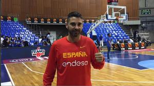 Navarro, concentrado con la selección española