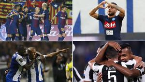 FC Barcelona, Nápoles, Porto y Juventus lo han ganado todo (en sus respectivos campeonatos) hasta la fecha