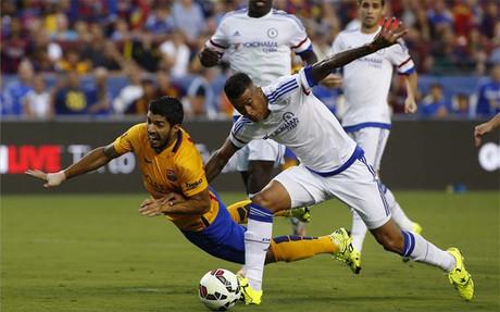 Luis Su�rez, uno de los m�s destacados en el ataque del FC Barcelona