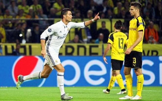 El madridistaCristiano Ronaldo marc� su segundo tanto en esta Champions League