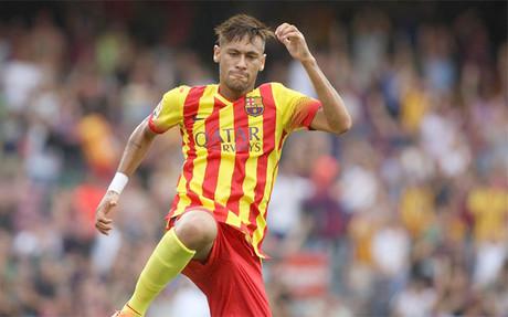 Neymar, feliz por sus dos goles