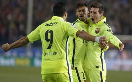 El 'tridente' del FC Barcelona est� en racha