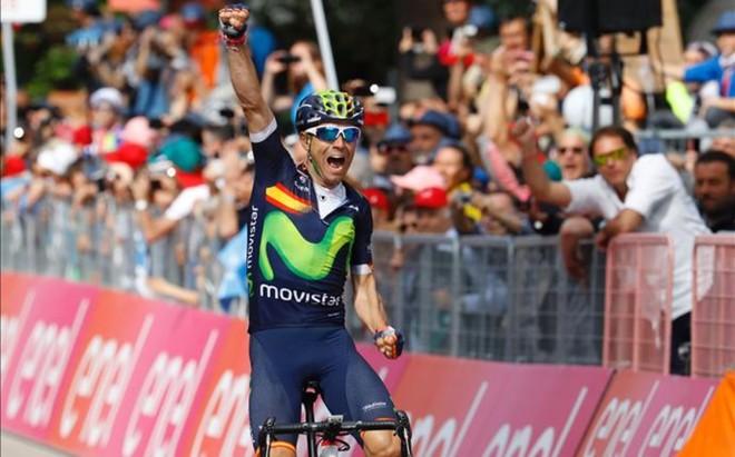 Valverde logr� su primera victoria en el Giro y deja a Nibali lejos