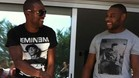 Abidal, con su primo Gerard