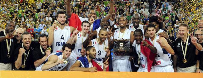 Francia barre a Lituania y gana su primer oro europeo