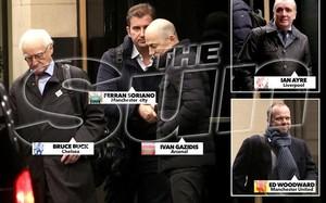 Los representantes de los cinco grandes clubs ingleses fueron descubiertos por The Sun en Londres