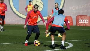 Leo Messi maravilla a todos en los entrenamientos