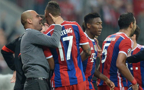 Guardiola enloqueci� con el tanto de Boateng
