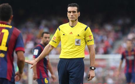 Mart�nez Munuera ya arbitr� el Bar�a-Granada (6-0)