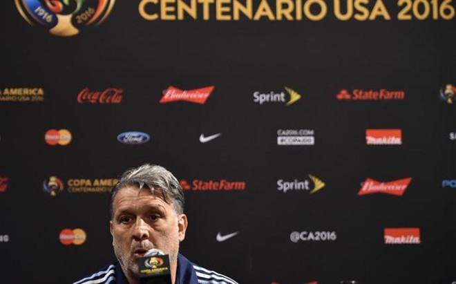 Martino, durante la rueda de prensa previa a la final