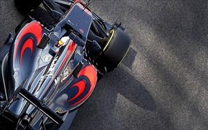 El McLaren de Alonso, durante la temporada 2015