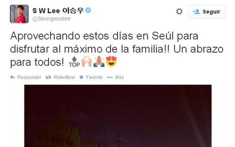 El mensaje de Lee Seung Woo en las redes sociales