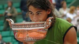 Rafa Nadal era un niño cuando ganó su primer título en Roland Garros en 2005