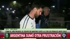 La tristeza de la selecci�n argentina al llegar al hotel