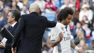 Marcelo salió lesionado