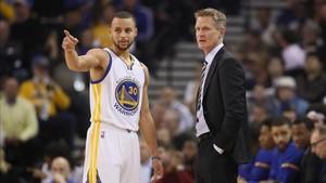Steve Kerr tendrá a Stephen Curry en el equipo del Oeste en el próximo All Star