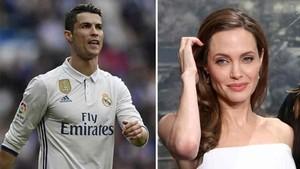Cristiano Ronaldo y Angelina Jolie