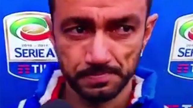 Quagliarella rompió a llorar ante las cámaras