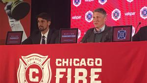 Schweinsteiger, durante su presentación con los Chicago Fire