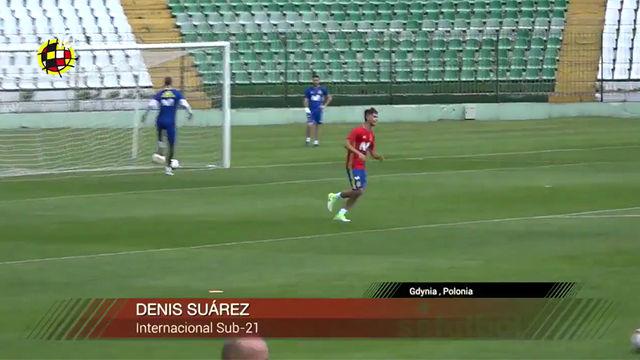 Denis Suárez deslumbra en los entrenos de la selección española sub-21