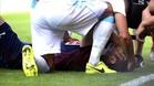 Iván Ramis se lesionó de forma fortuita frente al Deportivo