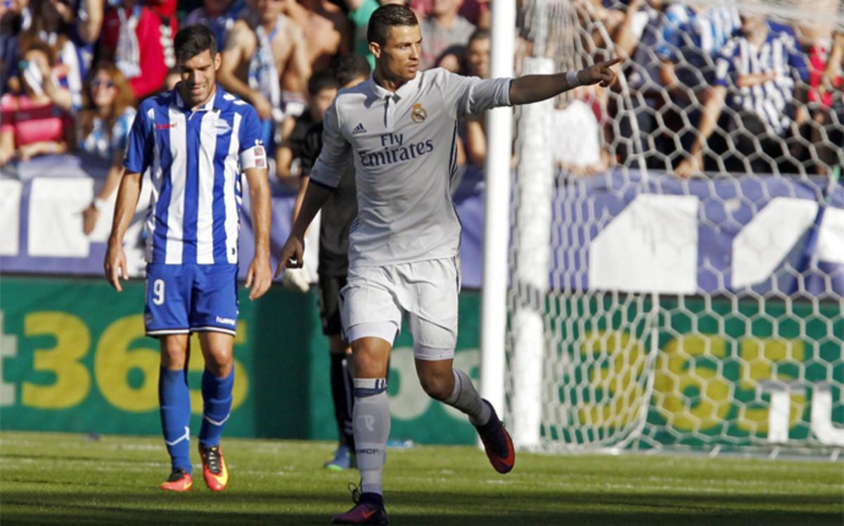 El Madrid golea, Atletico vence con solvencia, el Barça gana por la mínima y Sevilla y Villarreal tropiezan.