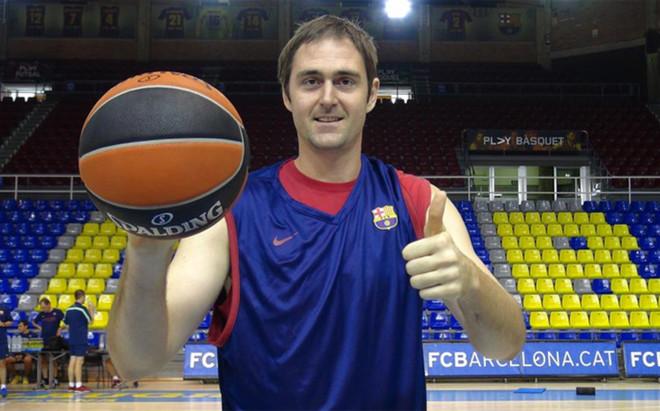 Erazem Lorbek en su etapa como jugador del FC Barcelona