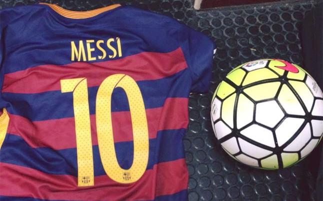 """Messi: """"Los tres puntos y la pelota, �para casa!"""""""