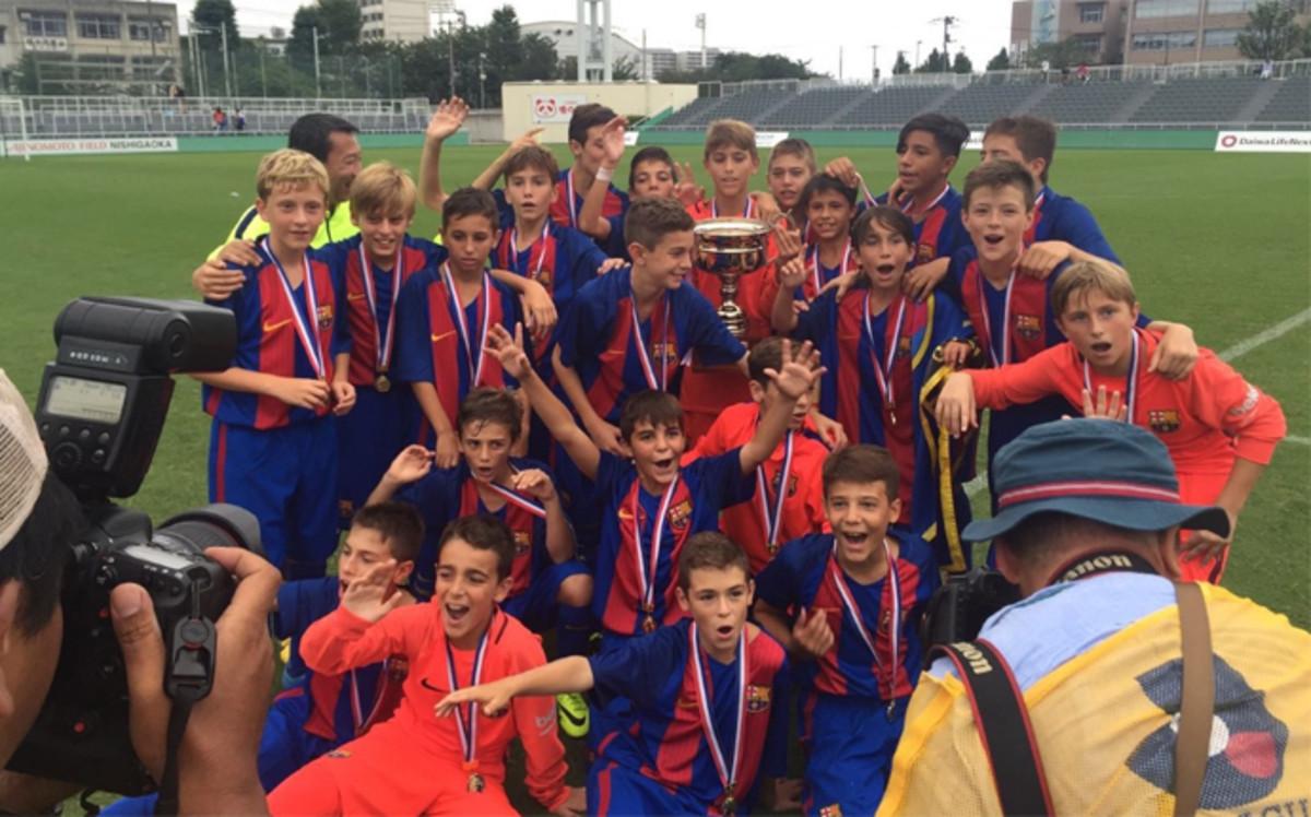 El Infantil B del Barça conquista el World Challenge Cup de Tokio