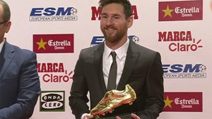 Leo Messi ya tiene su cuarta Bota de Oro