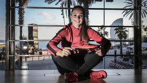 Lieke Martens posó para SPORT en el BoxBarcelona de Nike en la Barceloneta. La holandesa habló de sus primeros meses en el Barça