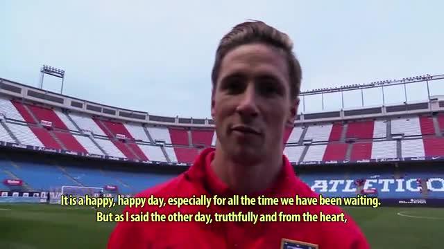 Torres, feliz tras marcar su gol n�mero 100 con el Atleti