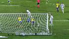 La reacci�n de Cristiano tras el gol de Benzema