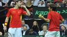 Marcel Granollers y Marc López luchan por el segundo punto de la final