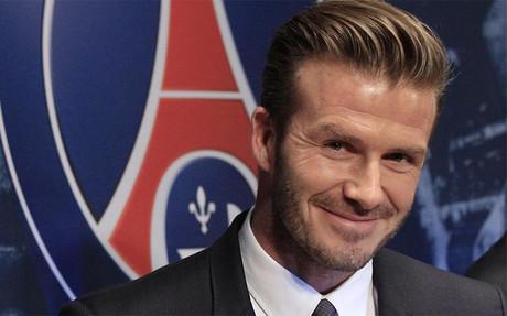Beckham, en su presentación oficial con el PSG