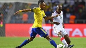 El gol de Aubameyang mantiene vivo a Gabón en la Copa de África