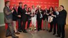 Brindis en la Antigua Fábrica Estrella Damm, por el torneo femenino en Terramar