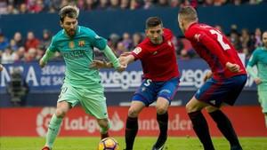 Leo Messi volverá a verse las caras con la defensa de Osasuna