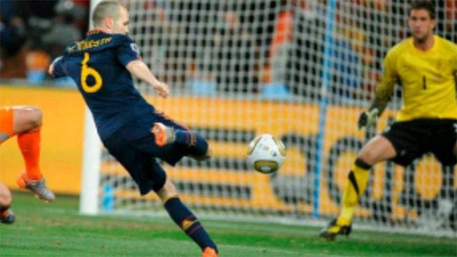 Iniesta recordó su gol en la final del Mundial de Sudáfrica