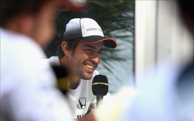 Alonso, durante la entrevista con la BBC en Austin