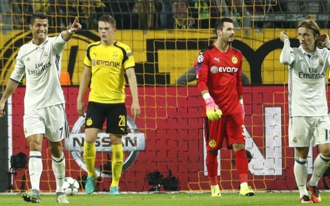Cristiano protest� un gol anulado en claro fuera de juego