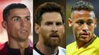 Messi, Cristiano y Neymar, finalistas al The Best de la FIFA