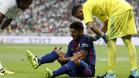Luis Suárez y Piqué acabaron el partido lesionados