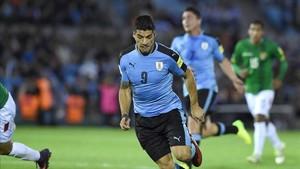 Luis Suárez, en el último partido disputado con Uruguay ante Bolivia